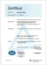 TUV ISO 9001:2008