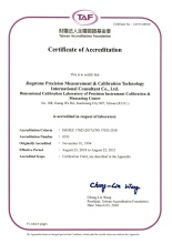 ISO IEC 17025 Certificate of Accreditation