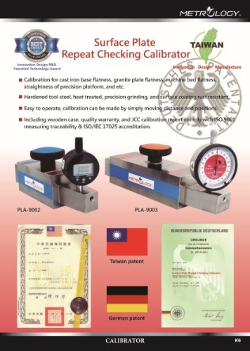 Surface Plate Repeat Checking Calibrator